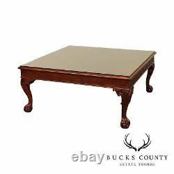 Chippendale Style Square Mahogany Ball & Claw Coffee Table