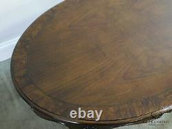 Chippendale Style Walnut Oval Mahogany Ball And Claw Coffee Table