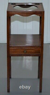 Circa 1890 Victorian Side Table Pedestal Decorative Built In Glass Church Candle