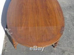 Coffee Table Bamboo Wood Cocktail Bohemian Boho Chic Chinese Chippendale Vintage