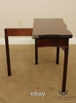 Colonial Williamsburg Collection Mahogany Georgian Style Flip Top Game Table