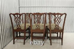 Councill Craftsman Chippendale Style Dining Table W / 6 Chairs
