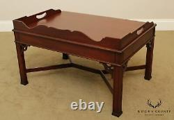 Councill Craftsmen Chippendale Style Mahogany Butlers Coffee Table
