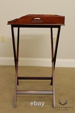 Councill Craftsmen Mahogany Folding X Base Butler's Tray Table