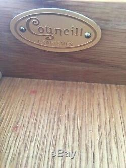 Councill Craftsmen Solid Mahogany French Chippendale Style 5 Drawer Lowboy