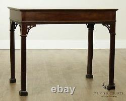 Custom Chippendale Style Vintage Mahogany Library Side Table