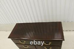 Drexel Chippendale Banded Cherry Hall Table