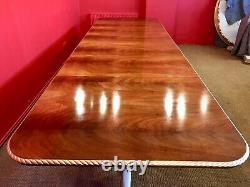 EXQUISITE 12.5ft GRAND REGENCY STYLE FLAME MAHOGANY TABLE PRO FRENCH POLISHED
