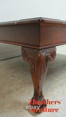 Ethan Allen 18th Century Mahogany Banded Coffee Table Ball Claw Chippendale