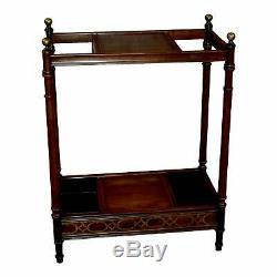 Ethan Allen Chinese Chippendale Style Umbrella Stand