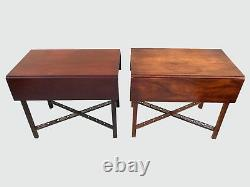 Exceptional Townshend Goddard Antique Style Drop Leaf Mahogany Pembroke Tables