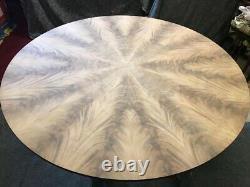 Exquisite CMC Sunburst Flame Mahogany Circular Table Range Pro French Polished