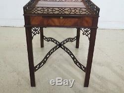 F31402EC BAKER Collector's Edition Chippendale Mahogany Tea Table