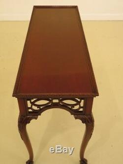 F44416EC ARDLEY HALL Claw Foot Mahogany Chippendale Sofa Table