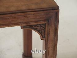F48371EC HENREDON Oak & Walnut Modern Chippendale End Table
