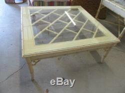 Faux Bamboo Chippendale Coffee table