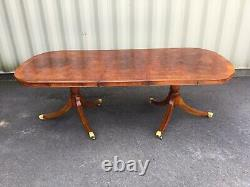 Gorgeous Designer Art Deco style Burr Yew tree dining table pro French polished