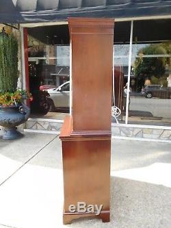 Grand Mahogany China Cabinet Crafted By Craftique 20th century