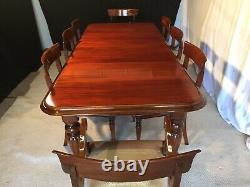 Grand Victorian Regency Style Brazilian Mahogany Table Pro French Polished