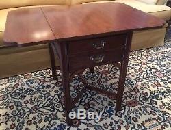HENKEL HARRIS Cherry Chippendale Pembroke Table #5425