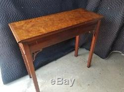 HICKORY CHAIR Historic James River Mahogany & Burlwood Chippendale Console Table