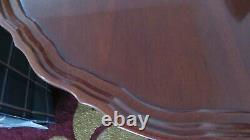 HICKORY CHAIR SOLID MAHOGANY PIE CRUST TILT TOP TABLE 30 Diameter