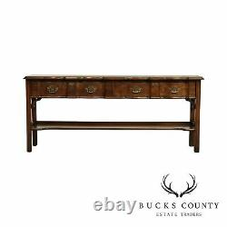 Harden Chippendale Style Cherry Console Table