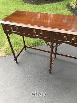 Heckman Two Drawer Mahogany Sofa Hall Table