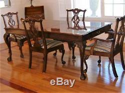 Hendredon Mahogany Dining Table And 6 Chairs $3000.00