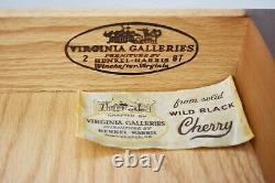 Henkel Harris Black Cherry Chippendale Style Drop Leaf Side Table