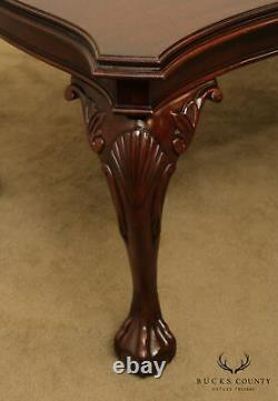 Henkel Harris Mahogany Chippendale Style Ball & Claw Dining Table