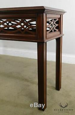 Henkel Harris Mahogany Chippendale Style Console Table