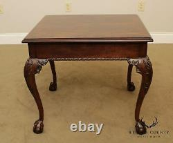 Henredon Rittenhouse Square Collec. Mahogany Chippendale Ball & Claw Side Table