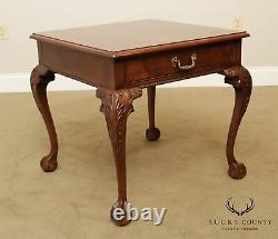 Henredon Rittenhouse Square Mahogany Chippendale Style Ball & Claw Side Table