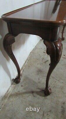 Henredon Sofa Couch Table Chippendale Claw Foot Cherry