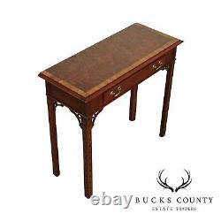 Hickory Chair Mahogany Chippendale Style One Drawer Console Table