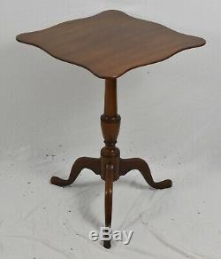 KITTINGER Williamsburg Mahogany Tilt Top Table Occasional Table CW 20