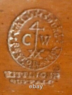 KITTINGER Williamsburg Mahogany Tilt Top Table Tea Table CW 70 Claw and Ball