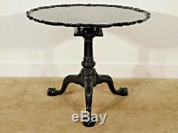 Kindel Winterthur Mahogany Ball & Claw Tilt Top Birdcage Chippendale Tea Table