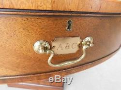 Kittinger Chippendale Style Mahogany Tooled Leather Top Rent Table