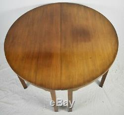 Kittinger Colonial Williamsburg Mahogany Dining Table Pair Demilune Tables CW 34
