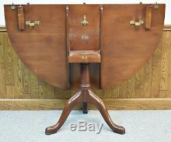 Kittinger Williamsburg Mahogany Five Pedestal Dining Table CW 65/66 4 Leaves