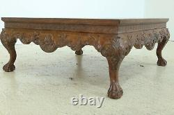 L32033EC Large Chippendale Ball & Claw Carved Coffee Or Cocktail Table