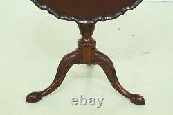 L46420EC HENKEL HARRIS Ball & Claw Mahogany Tilt Top Table