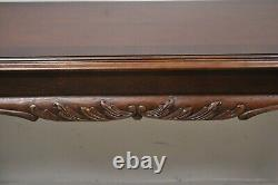 Lane Chinese Chippendale Georgian Mahogany Ball & Claw Console Sofa Hall Table
