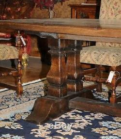 Large Oak Refectory Table Kitchen Dining Trestle Tables 10 Feet Long