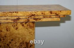 Lovely Burr Walnut Art Deco Style Console Table Very Artistic Lines Must See