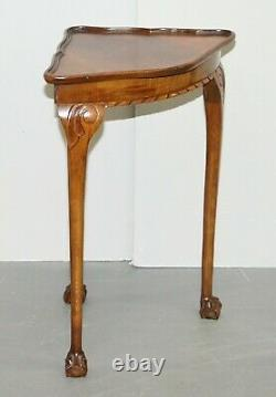 Lovely Circa 1930's Art Deco Claw & Ball Feet Corner Side Lamp Jardiner Table