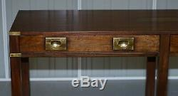 Lovely Kennedy Harrods Military Campaign Style Mahogany Console Table Sideboard