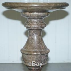 Lovely Medium Solid Marble Side End Lamp Wine Occasional Centre Round Table